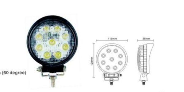 27 Watt Round Spotlights