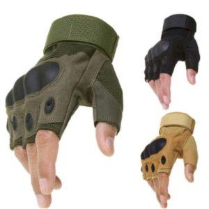 Tactical Half Finger Hard Knuckle Gloves
