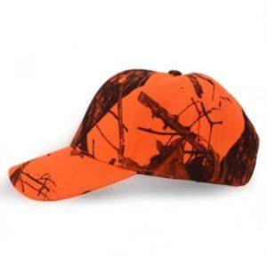 Orange Camo Woodlands Cap