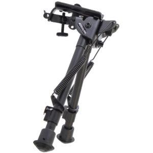 """Rudolph 9"""" - 13"""" Black Aluminum Swivel Pivot Bipod"""