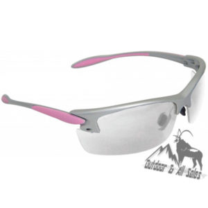 Radians Woman's Shooting and Safety Glasses - Pink & Silver
