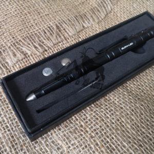 Supa-LED Tactical Pen With Flashlight (Black)