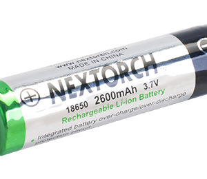 NEXTORCH 18650 2600mAh 3.7V Rechargeable Li-ion Battery