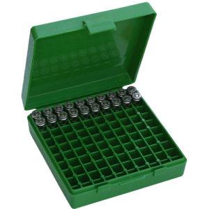 MTM Case-Gard P-100-9-10 380/9mm Ammo Box - 100rd