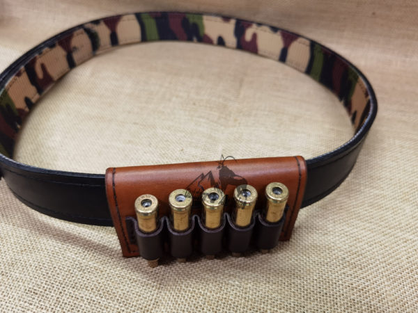 Huntech 5 Round Leather Ammo Pouch