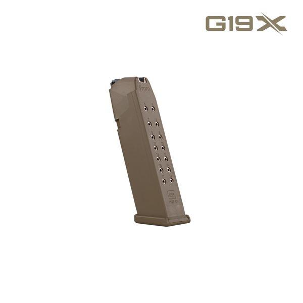 Glock Magazine G17/G19X 17 RD Coyote