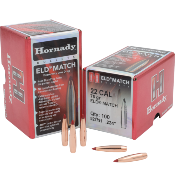 Hornady 22 Cal .224 75 gr ELD-Match