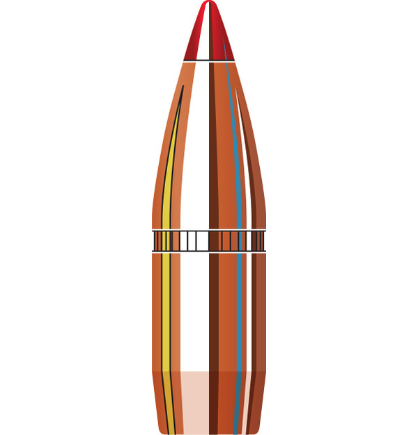 Hornady 270-6.8mm .277 110 gr V-MAX® with cannelure (100)