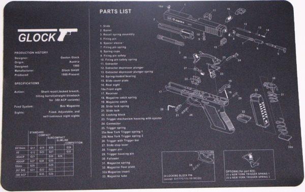 Glock Parts List Mat