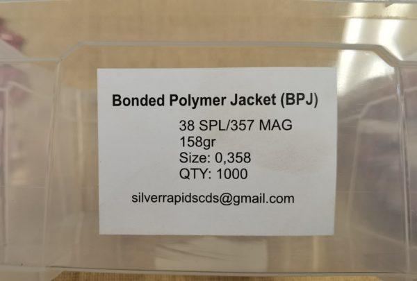 Silver Rapids 158gr BPJ 38 Spl/357 Mag Bullets