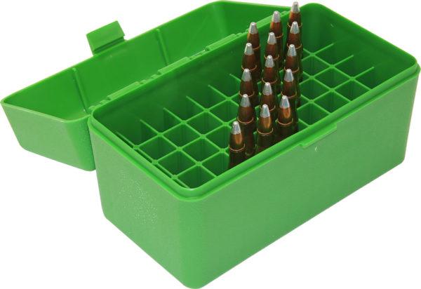MTM Case-Gard Magnum Calibers 50 Round Ammo Box Green