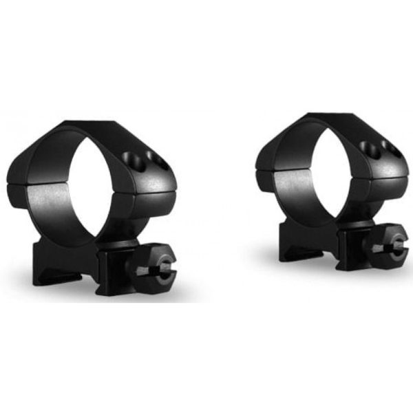 Arctic Steel Rings - Picatinny Weaver (Low Black)