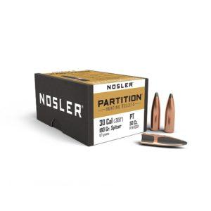 Nosler 30 Cal Partition 180gr Spitzer Bullet (50ct)