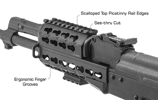 "UTG PRO Keymod AK 6"" Super Slim Handguard, Black"