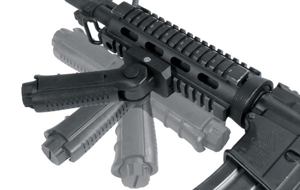 UTG Ambidextrous 5-position Foldable Foregrip, Black