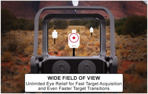 """UTG SCP-RDM39CDQ 3.9"""" Red/Green Circle Dot Reflex Sight"""