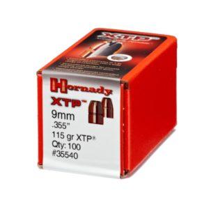 Hornady 9mm .355 115 gr XTP (100)